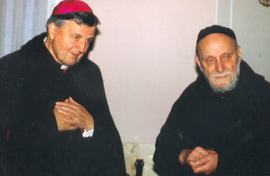 Mgr Majdanski et père Marie-Joseph